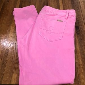Lilly Pulitzer worth skinny in tropical pink 12